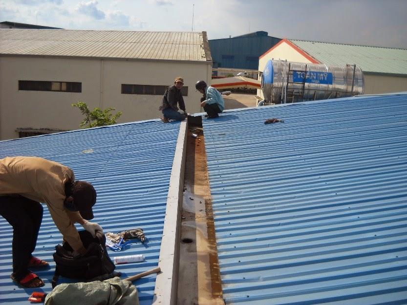 Chuyên nhận sửa chữa, chống dột mái tôn Nhà Xưởng tại Bình Dương